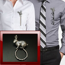 Rabbit a17 Peltro Perno SPILLA DROP Hoop titolare per occhiali, penne, gioielli