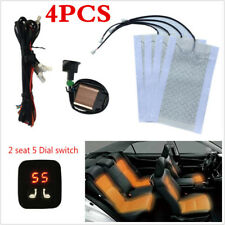 Universal 2 Seats Heated Seat Heater Kit 12V Carbon Fiber Digital Display Switch