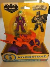 Imaginext DC Super Friends Streets Of Gotham City The Joker & Cycle  NEW