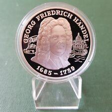 Andorra Silbermünze 10 Diners 1998 - Georg Friedrich Händel - PP