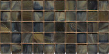 50pcs N15 Tortoiseshell Natura Opaque Glass Mosaic Tile 15mmx15mmx4mm Paperfaced