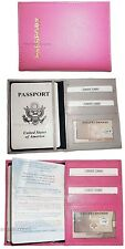 Lot of 3 New Int'l Leather passport case wallet credit ATM card case ID BNWT