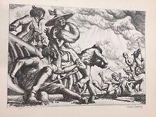 "A Treasury of American Prints, Paul Cadmus ""Aspects of Suburban Life-Polo Spill"""