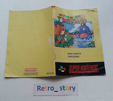 Super Nintendo SNES Yoshi's Island Notice / Instruction Manual