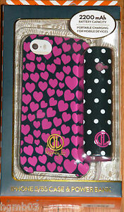 DABNEY LEE IPHONE 5/5S CASE & POWER BANK BLACK WITH PURPLE HEARTS