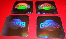 1990 Upper Deck Vintage 80's Logo Hologram Stickers San Francisco Giants Lot x4