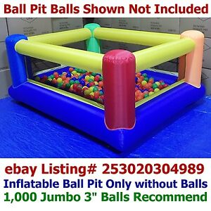 My Bouncer AZ-700 Perfect Little Inflatable Ball Pit for Kids Indoor Outdoor Use