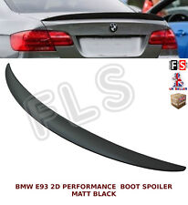 BMW 3 SERIES E93 2D PERFORMANCE REAR TRUNK BOOT SPOILER MATT BLACK 2007 UP