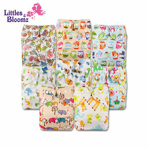 8 Washable Reusable Pocket Standard Cloth NAPPY Diaper