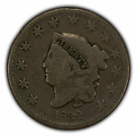 1832 1c Coronet Head Large Cent SKU-X1560
