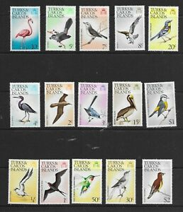 Turks & Caicos Islands 1973 Birds values  to $1 & $2 MINT hinged