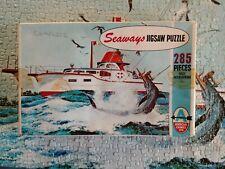 SHARK FISHING Seaways 285 piece vintage jigsaw puzzle Arrow