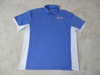 NIKE Florida Gators Polo Shirt Adult Extra Large Blue White Dri Fit UF Football
