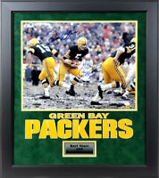Bart Starr & Paul Hornung Autographed Green Bay Packers 16x20 Photo Framed JSA