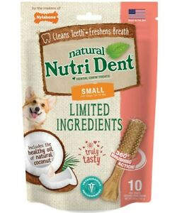 Nylabone Nutrident Coconut Dental Chew Treat Small Pouch 10ct     Free Shipping