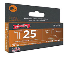 Arrow Fastener 256 T25 3/8-Inch 10mm Round Crown Staples, 1,000-Pack