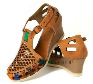 Mexican Sandals for Women WEDGE Huaraches Chedron Huarache Sandals LMS1007