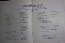 Programme  de la comédie Française, 1949, le soulier de satin Paul Claudel