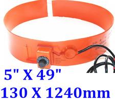 "5"" X 49"" 130 X 1240mm 800W Tank Drum Barrel Band CE UL Heate w/ Controller"
