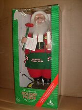 Animated Christmas Motionette SANTA WORK SHOP Holiday Display Candle Figure MIB