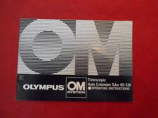 Manual Olympus OM Sistem (E) Instructions Manual