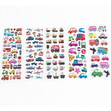 6 hojas niños Cartoon diario transporte Notebook pegatina decoración