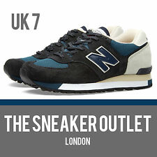 Men's New Balance 575 SNG Taille UK 7 Daim Bleu Baskets Made In England 1500
