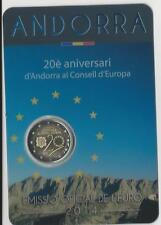 2 Euro Sondermünze Andorra 2014 : 20. Jahre des Beitritts Andorras zum Europarat