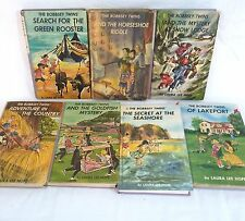 7 Vintage Bobbsey Twins hardcover book Lot 1 2 3 5 46 55 58