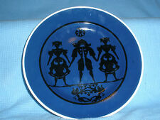 "1 HC Andersen Originale Klip Denmark PLATE 8 ⅜"" Nils Thorsson Black on Blue #B3"