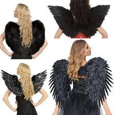 extravagante FLÜGEL FEDERFLÜGEL - schwarz - Kostüm Zubehör Engel Halloween
