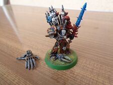 Warhammer 40K Space Marine Chaos Abaddon The Despoiler Painted Metal OOP