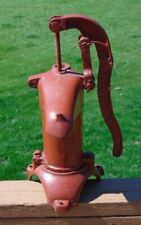 Vintage left or right handed cast iron short well pitcher pump head