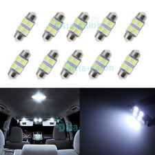 10Pcs Super Bright White 4 SMD LED Festoon 27mm 28mm Dome Map Reading Door Light