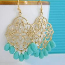 Brass Chandelier Handcrafted Earrings