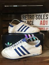 Adidas Originals The Sneeker Trainers UK Size 6 White Blue Suede Q21254