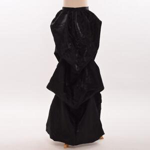 Blessume Victorian Steampunk Bustle Belt Overskirt Detachable Train Skirt 3Color