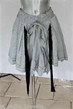 adorable jupe plissée grise coton ramie M&F GIRBAUD T 36 (I 40)  EXCELLENT ÉTAT