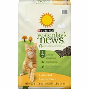 Purina Yesterday's News Non Clumping Paper Cat Litter Unscented Low Tracking ...