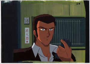 Bubblegum Crash Crisis Anime Cel Douga BG Animation Art Leon Kenichi Sonoda '91