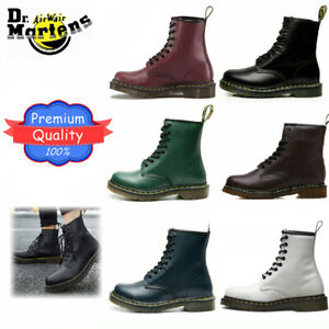 Unisex Dr. Martens 8 Lace Up Leather Doc Martins Soft NAPPA 1460 Boots Shoes UK