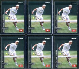 Roger Federer 6 Rookie Card Lot 2003 NetPro Tennis Cards #11  International