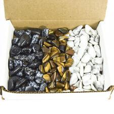 Tumbled Stone Collection 1.0lb Lots Snowflake Obsidian Tigers Eye White Howlite