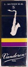 boîte de 5 Anches VANDOREN pour Saxophone Ténor force 5