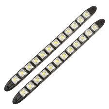2 x 12W DRL Flexible 12 LED Tira Luz de circulación diurna Franjas Coche