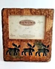 """SONOMA Resin & Glass CARIBOU Cut-Outs 8""""H x 7.5""""L Standing Picture Frame - NEW"""