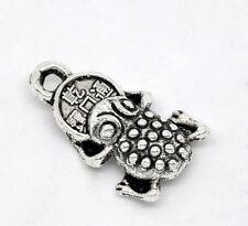 10 Pcs Antique Silver Money Toad Charms Pendants 17x11mm LC1910