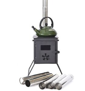 Outbacker® 'Firebox' Portable Wood Burning Tent Stove For Bell Tent - Free bag.