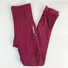 Gymshark Energy + Seamless Beet Red Athletic Workout Leggings Womens Size XS