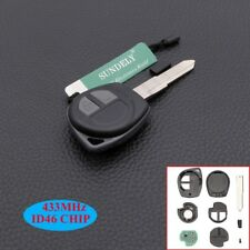 2 Buttons Remote Key Shell Fob ID46 433MHz For Suzuki Grand Vitara Swift Ignis